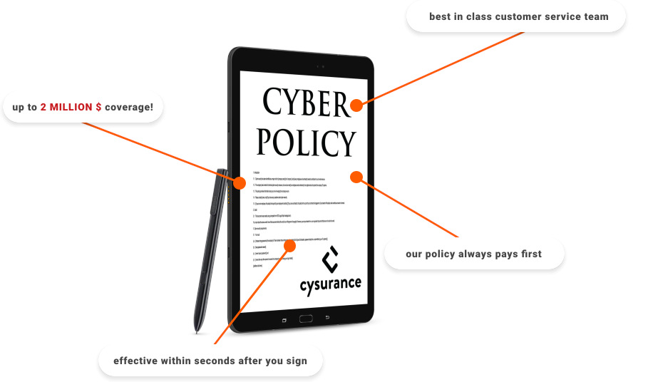 Cyber Security Policy from Cysurance - sign now!