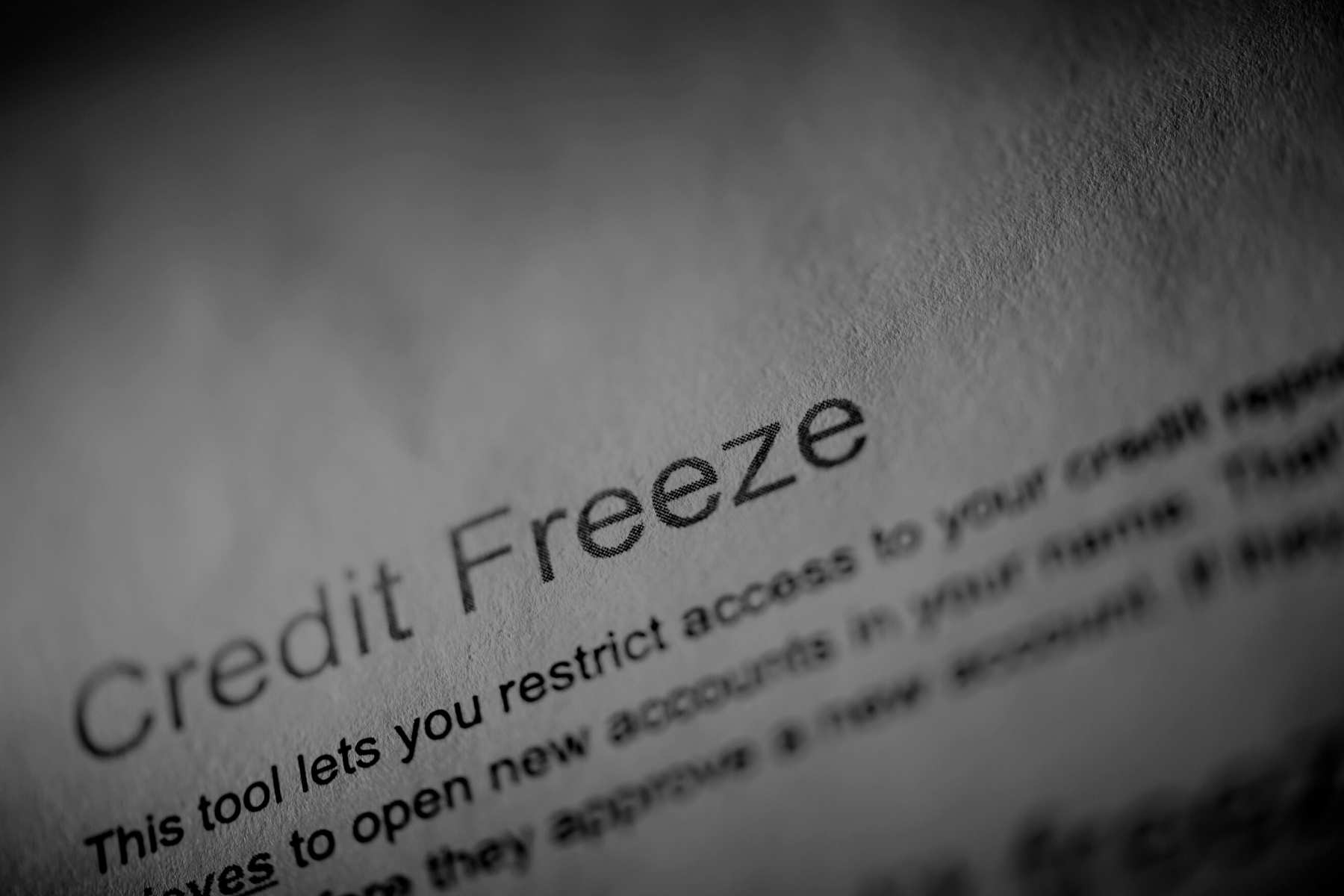 Freeze Your Credit Now, Before it is Too Late!